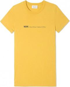 Żółty t-shirt Wood Wood z bawełny