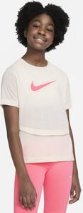 Koszulka dziecięca Nike dla dziewczynek z krótkim rękawem