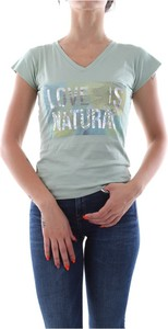 Zielony t-shirt Bomboogie z krótkim rękawem