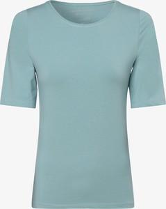 Niebieski t-shirt Franco Callegari z bawełny z krótkim rękawem z okrągłym dekoltem