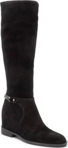 Czarne kozaki Quazi w stylu casual przed kolano