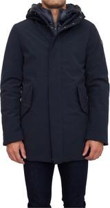Niebieska kurtka Trussardi w stylu casual długa