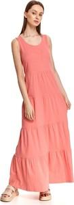 Różowa sukienka Top Secret koszulowa na ramiączkach