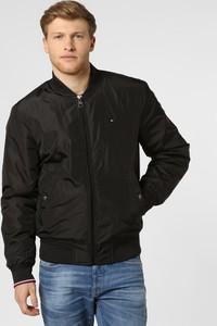 Czarna kurtka Tommy Hilfiger w stylu casual