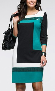 Sukienka Yaze z bawełny w geometryczne wzory dla puszystych