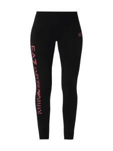Czarne legginsy EA7 Emporio Armani z bawełny w stylu casual