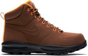 Brązowe buty zimowe Nike z nubuku