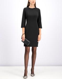 Czarna sukienka Calvin Klein z okrągłym dekoltem mini