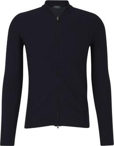 Niebieski sweter Zanone w stylu casual