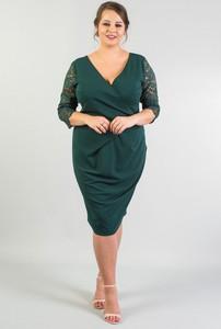 Sukienka KARKO z tkaniny ołówkowa midi