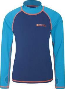 Niebieska koszulka dziecięca Mountain Warehouse dla chłopców z tkaniny