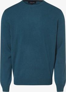 Niebieski sweter Andrew James z kaszmiru w stylu casual