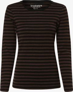 T-shirt brookshire w młodzieżowym stylu z długim rękawem z okrągłym dekoltem