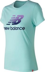 T-shirt New Balance z bawełny z okrągłym dekoltem z krótkim rękawem