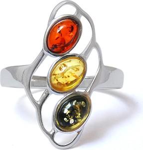 Ambertic-em Pierścionek z bursztynem w trzech kolorach