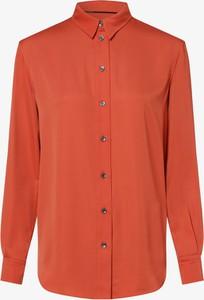 Pomarańczowa koszula Calvin Klein z kołnierzykiem z długim rękawem