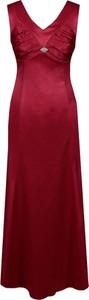 Czerwona sukienka Fokus rozkloszowana maxi