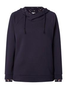 Granatowa bluza Esprit z bawełny krótka w stylu casual