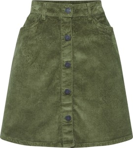Zielona spódnica Noisy May ze sztruksu mini