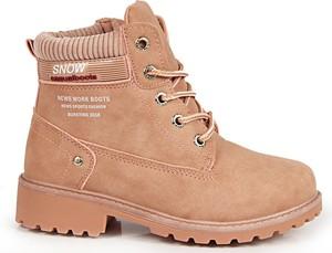Różowe buty dziecięce zimowe N.E.W.S