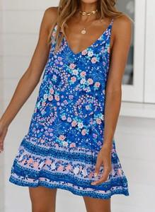 Niebieska sukienka Sandbella mini w stylu casual