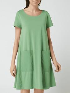 Zielona sukienka Esprit z bawełny z krótkim rękawem