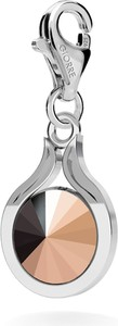 GIORRE SREBRNY CHARMS SWAROVSKI RIVOLI 10MM 925 : Kolor kryształu SWAROVSKI - Rose Gold, Kolor pokrycia srebra - Pokrycie Jasnym Rodem