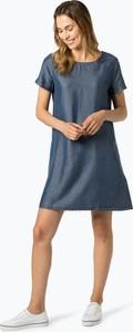Niebieska sukienka Opus w stylu casual mini z krótkim rękawem