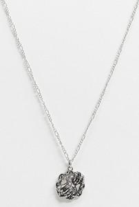 Reclaimed Vintage Inspired – Naszyjnik z monetą w odcieniu srebra-Srebrny