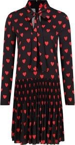 Sukienka Red Valentino z żabotem z długim rękawem mini