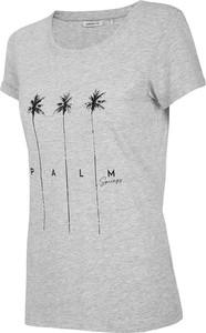 T-shirt Outhorn z okrągłym dekoltem z bawełny w sportowym stylu