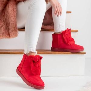 Czerwone śniegowce Royalfashion.pl