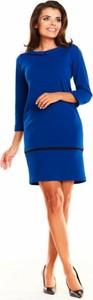 Sukienka Awama mini ołówkowa z długim rękawem