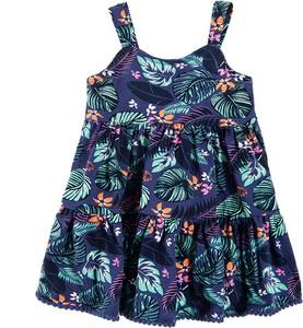 Granatowa sukienka dziewczęca Cool Club z tkaniny