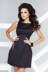 Czarna sukienka Ivon mini bez rękawów