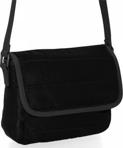 Czarna torebka Herisson lakierowana w stylu glamour ze skóry ekologicznej