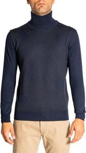 Granatowy sweter Cashmere Company z golfem w stylu casual