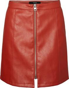 Czerwona spódnica Vero Moda w stylu casual