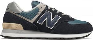 Czarne buty sportowe New Balance w sportowym stylu sznurowane 574