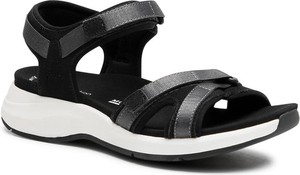Czarne sandały Clarks w stylu casual z klamrami