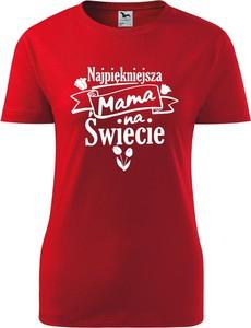 Czerwony t-shirt TopKoszulki.pl z bawełny