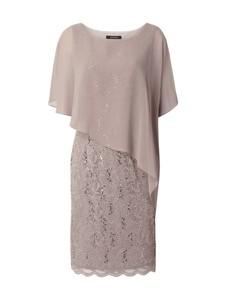 Sukienka Swing z szyfonu z długim rękawem