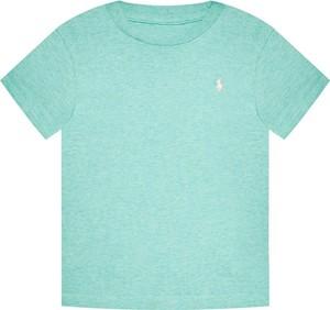 Bluzka dziecięca POLO RALPH LAUREN z jeansu z krótkim rękawem dla chłopców