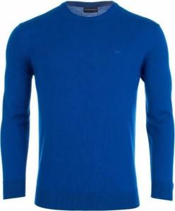 Niebieski sweter Emporio Armani