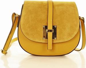Żółta torebka MAZZINI w młodzieżowym stylu średnia