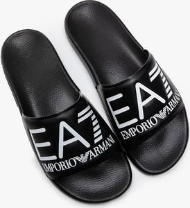 Czarne buty letnie męskie Emporio Armani
