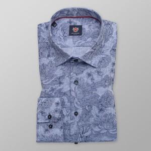 Niebieska koszula Willsoor z klasycznym kołnierzykiem z tkaniny