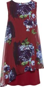 Czerwona sukienka bonprix BODYFLIRT mini asymetryczna z dżerseju