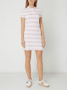 Sukienka Tommy Hilfiger z bawełny z krótkim rękawem