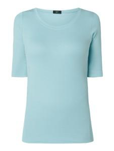 Niebieska bluzka Marc Cain w stylu casual z okrągłym dekoltem